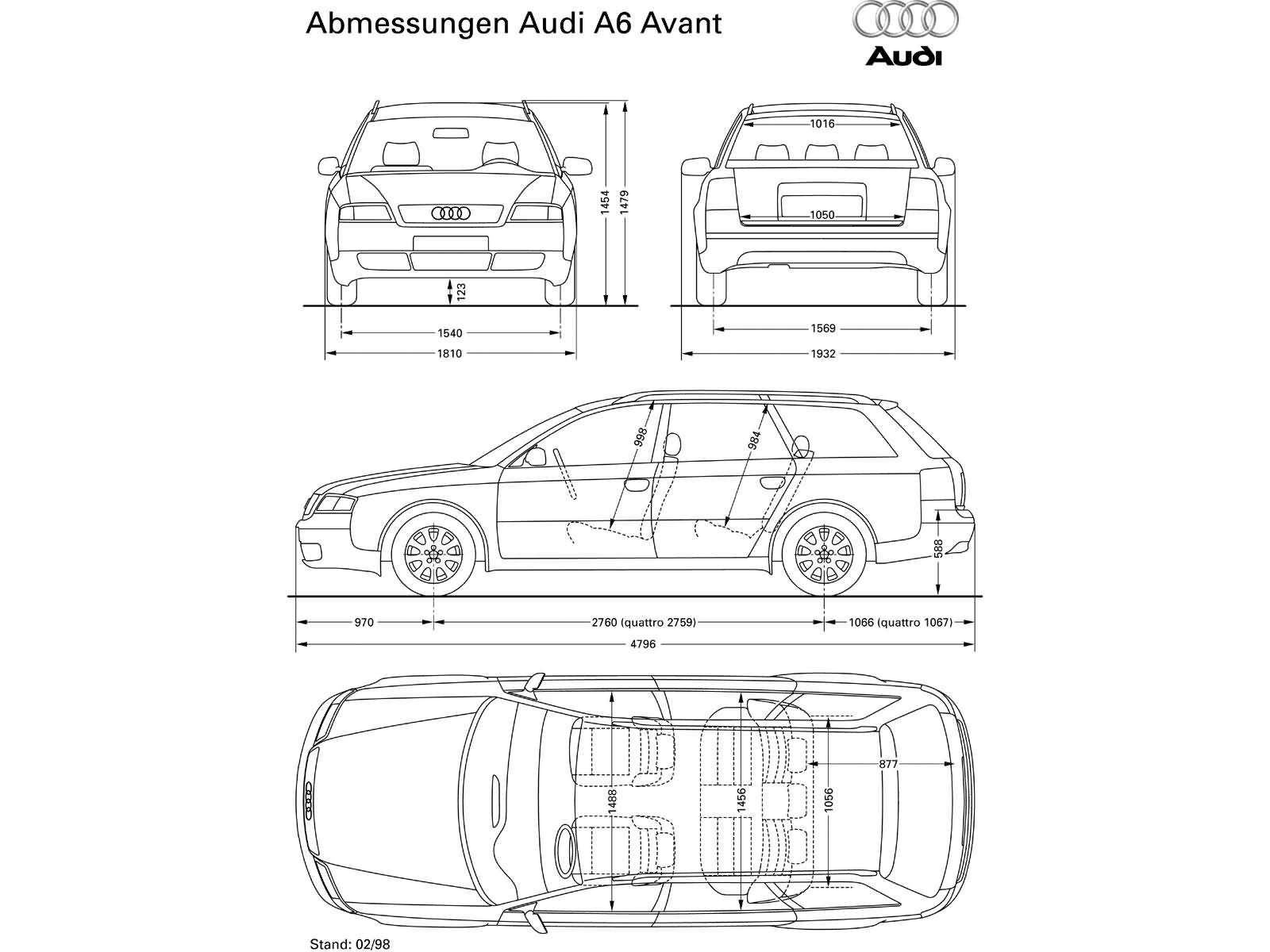 A6 Avant 25tdi 180ps Quattro C5 A6 Dane Techniczne Audi