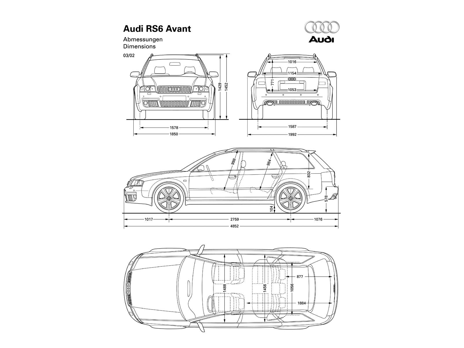 Rs6 Plus Avant C5 Rs6 Dane Techniczne Audi Klub Polska