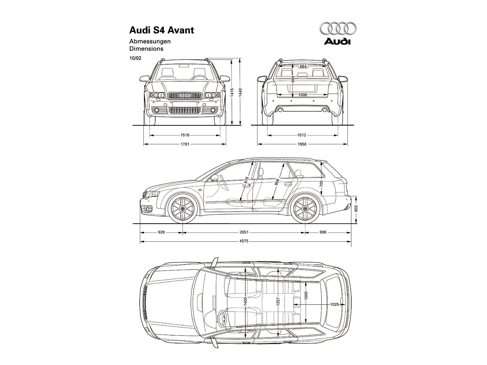 S4 Avant B6 S4 Dane Techniczne Audi Klub Polska