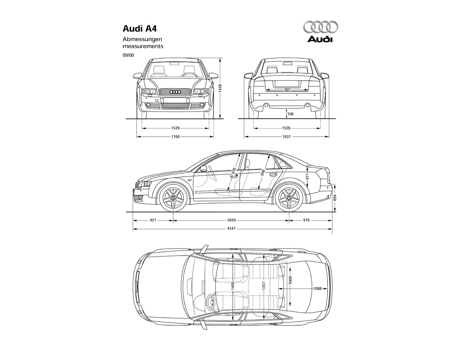 A4 b6 dane techniczne